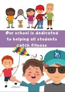Poster one of the Catch Fitness resources